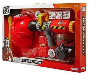 Kit Bombeiro Lançador de Agua Mascara De Oxigenio Multikids