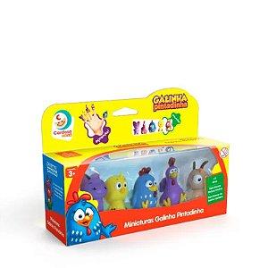 Miniaturas Galinha Pintadinha, Cardoso Toys, 5 personagens