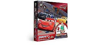 Quebra-cabeça 48 peças Grandão, Carros Disney, Toyster Brinquedos