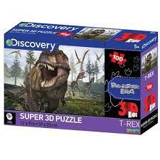 Quebra Cabeca Super 3d Dinossauros Na Pre-historia 100 Pecas