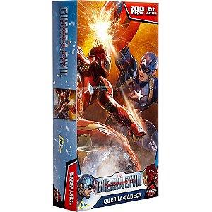 Quebra-Cabeça Toyster Capitão América 3 - 200 Peças