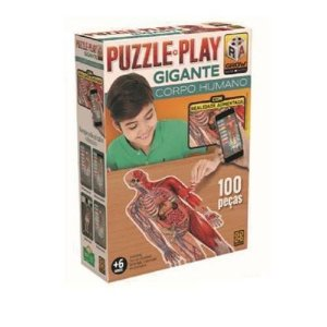 Quebra Cabeça Corpo Humano Puzzle Play Grow 3636