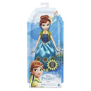 Brinquedo Boneca Frozen Fever Anna Hasbro