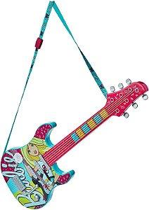 Guitarra Fabulosa com Cão Mp3 Player Barbie Rosa