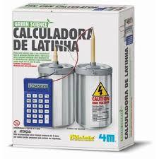 Brinquedo Cientifico Calculadora de Latinha