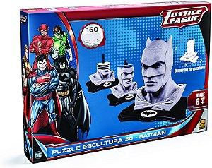 Quebra-Cabeça Cartonado Batman Escultura 3D 160 Peças Grow