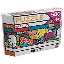 Puzzle Grow Panorama Romero Britto The Hug - 500 peças