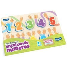 Encaixando Números, Toyster Brinquedos, Colorido
