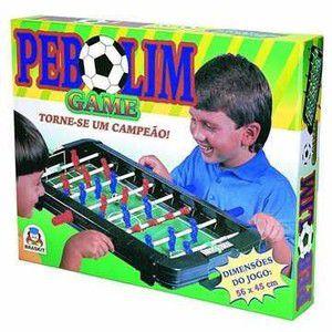 Pebolim Game Braskit Vermelho/Azul