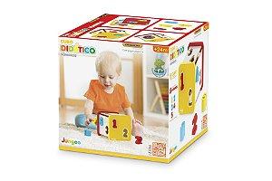 Brinquedo Educativo Cubo Didático em Madeira – Números