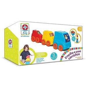Brinquedos Estrela Empilha e Puxa Carrinhos, Multicolorido