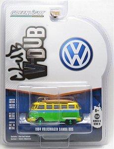 Miniatura - 1:64 - 1964 Volkswagen Samba Bus Kombi - Club V-Dub - Greenlight