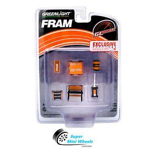 Set: Shop Tools - Ferramentas e Acessórios - Fram - 1:64 - Greenlight Ref.: 13173