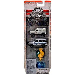 Kit com 5 Carros Jurassic World 1:64 Matchbox