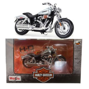 Miniatura de moto Harley Davidson 2009 FDXFSE CVO Fat Bob - 1:18 - Maisto