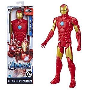 Figura Articulada - 30 Cm - Titan Heroes - Disney - Marvel - Avengers - Iron Man - Hasbro