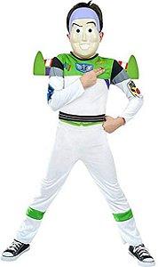 Fantasia Toy Story Infantil Buzz de Luxo Com Máscara e Asa TAM G