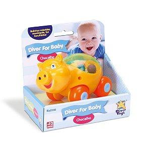 Chocalho For Baby Diver Toys - Hipopótamo