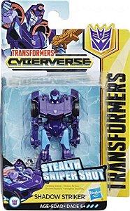Boneco Transformers Cyberverse Sting Shot Scout Class  SHADOW STRIKER
