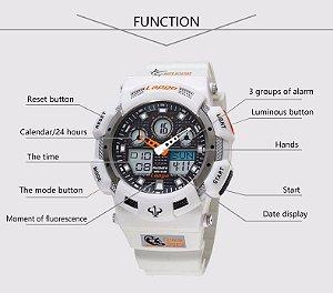 Relógio masculino militar marca pasnew Plg 1002ad resistente a água 100m