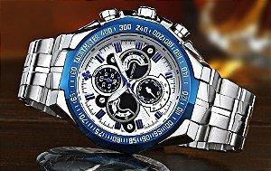 Homens Top Marca De Luxo Relógios 30 m À Prova D' Água Japão Esportes Relógio de Quartzo Homens de Aço Inoxidável Relógio Casual Masculino Militar de Pulso relógio