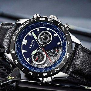LIGE Quartz Militar Relógio Do Esporte Dos Homens Marca de Luxo Relógios relógio de Pulso dos homens do exército Ocasional Relógio de aço completa relogio masculino 2016