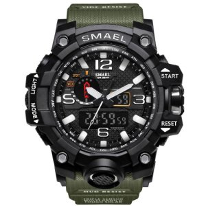 Smael marca relógio do esporte dos homens moda quartzo analógico digital led relógio eletrônico relógio à prova d' água relógios militares relogio masculino