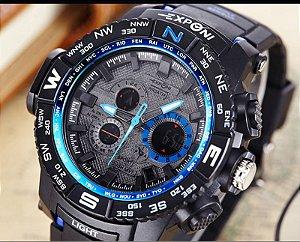 Luminosas Homens Relógio Automático de Moda mens dupla afixação à prova d' água esporte militar do exército relógio de pulso top quality homem datejust relógio