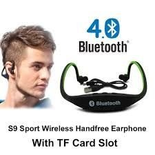 Original S9 fones de ouvido esporte sem fio Bluetooth 4.0 fone de ouvido Headset com Slot para cartão TF para iPhone Samsung Xiaomi fone de ouvido