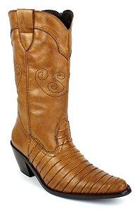 Bota Country Feminina Cano Médio Rodeio Boots