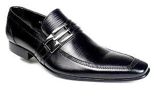 Sapato Preto Social Masculino Sola Couro