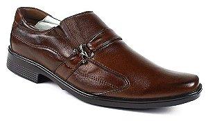 Sapato Confortável Couro Marrom ou Preto Palmilha Gel