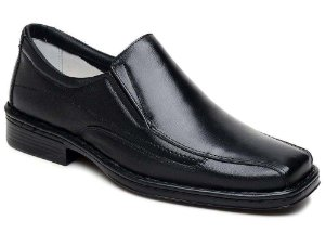 Sapato Masculino Confortável Bico Quadrado Cla Cle