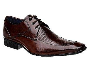 Sapato Social Couro Marrom com Cadarço Bigioni