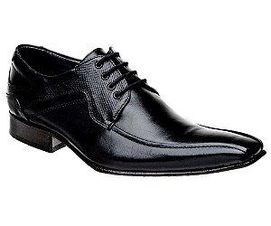 Sapato Social com Cadarço Couro Preto Bigioni