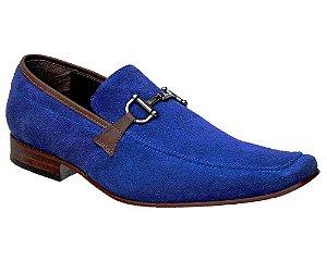 Sapato Esporte Fino Nobuck Azul Bigioni