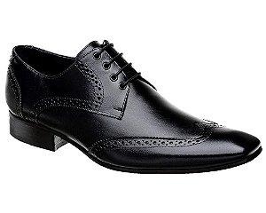 Sapato Oxford Masculino em Couro Preto Bigioni