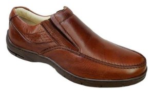 Sapato Masculino Couro Leblon Palmilha Gel Confortável