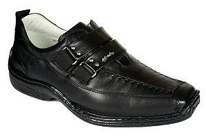 Sapato Masculino Preto ou Branco Antistress Palmilha Gel Confort