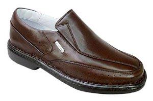 Sapato Masculino Preto ou Marrom Confort Pele de Carneiro Sapatos Franca