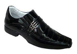 Sapato Masculino Verniz Preto Sola Borracha Alcalay Calçados