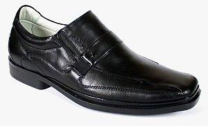 Sapato Preto Palmilha Gel Super Confortável Couro Natural
