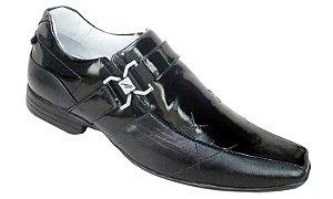 Sapato Social Masculino Verniz Preto Sola de Borracha Alcalay