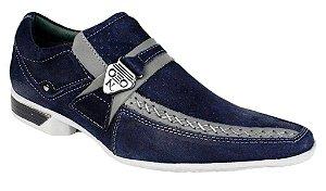Sapato Masculino Esporte Fino Azul Marinho Ventilador Nevano Shoes