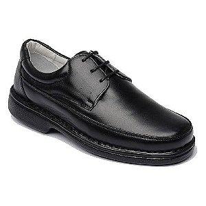 Sapato com Cadarço em Couro de Carneiro Marrom ou Preto Mafisa