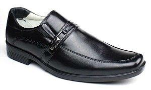 Sapato Social Preto Masculino Confortável Pele de Carneiro