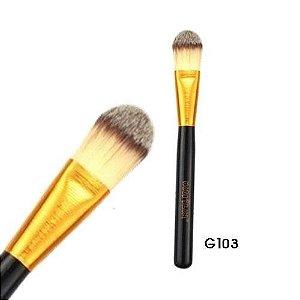 Pincel para Base Linha Gold Macrilan Profissional G103