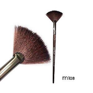 Pincel Leque Vassourinha Linha Madeira Macrilan Profissional M108