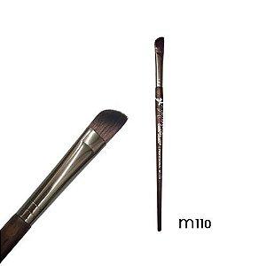 Pincel chanfrado sombra Linha Madeira Macrilan Profissional M110