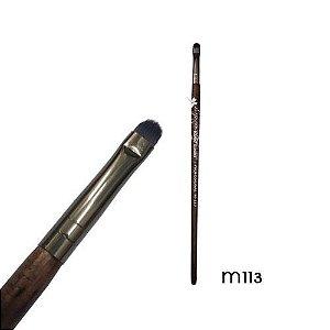 Pincel de Precisão Chato Linha Madeira Macrilan Profissional M113